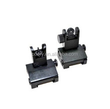 Front Rear BUIS Metal Flip Up Floding Backup Iron Sight Set For Rifle Hunting Metal Floding