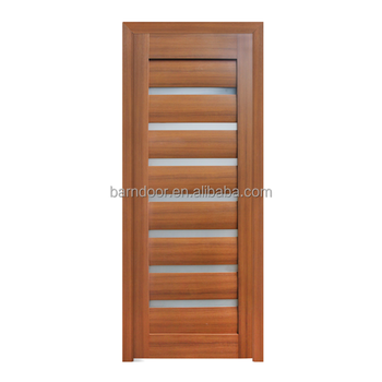 Solid Core MDF Interior Doors PVC Panel Doors With Round Solid MDF Core  High Quality PVC
