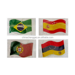Long Lasting Smell Customized Flag Shaped Hanging Paper air freshener