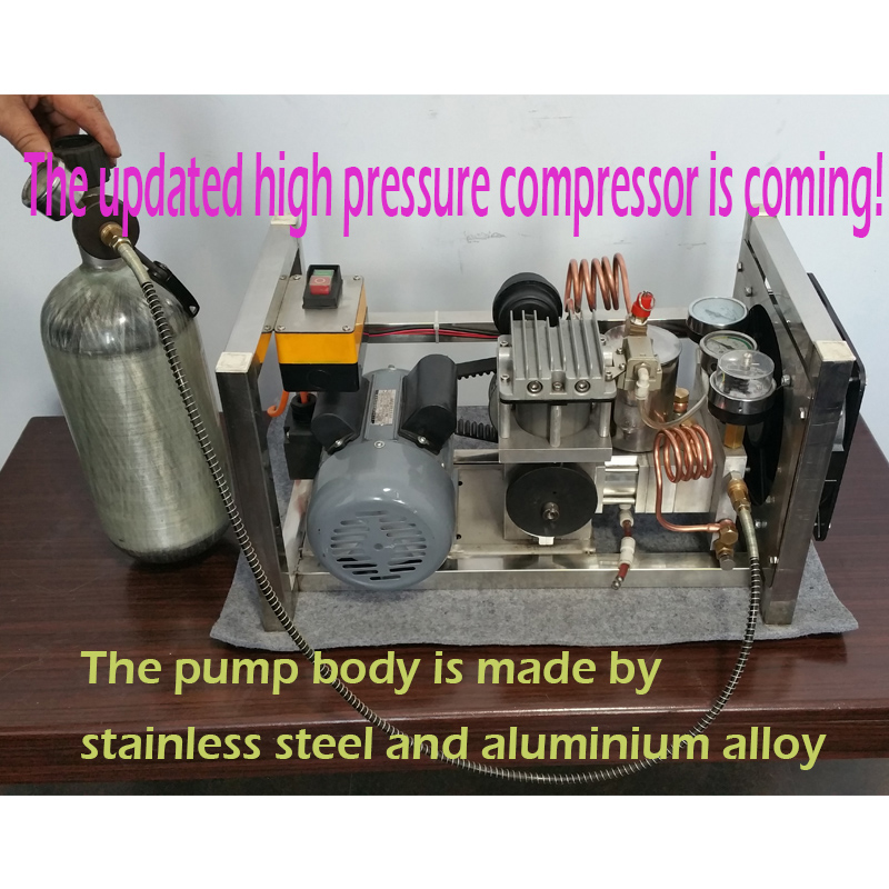 Portable piston High pressure pcp pump air gun 4500 psi air compressor