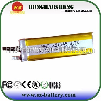 Upower high quality 3.7v lipo battery 3.7v 180mah batteries for sale