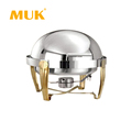 hotel restaurant round design stainless steel buffet chafing dish food warmer
