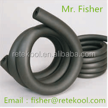 Elastomeric solid soft foam rubber plastic thermal insulation tube