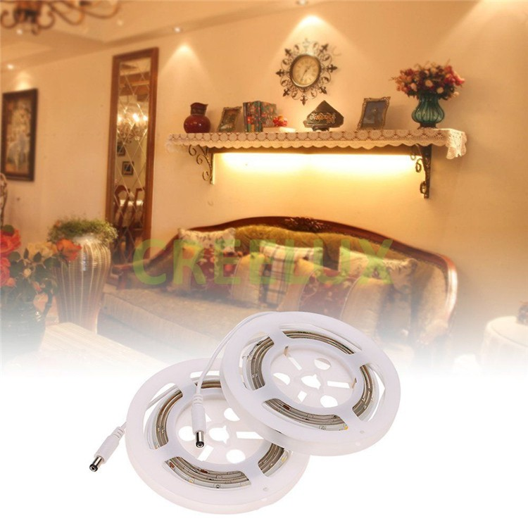 smd3528 white night light 2 pack wireless bed led strip light motion sensor 12v