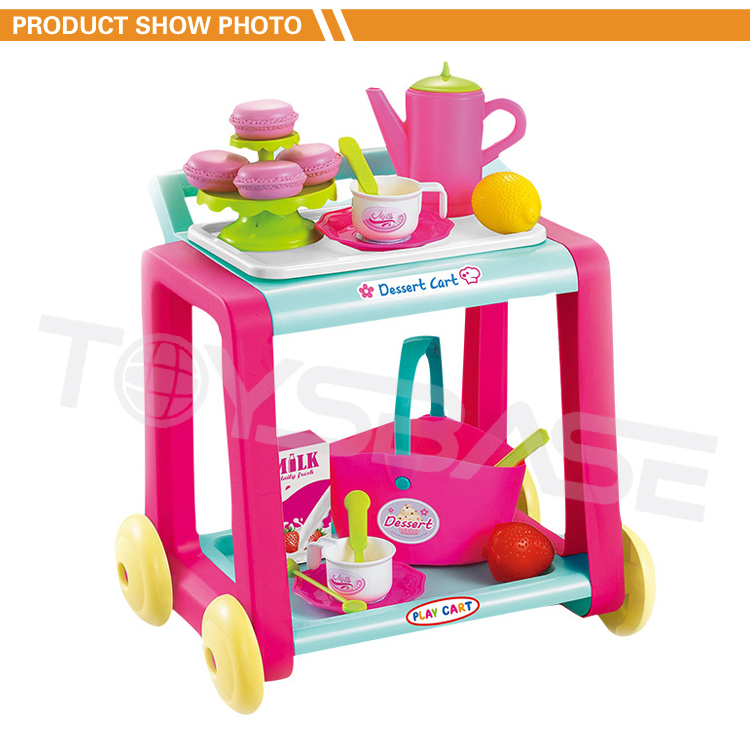 China Colorful Plastic Lovely Food Toy Baby Trolley Price