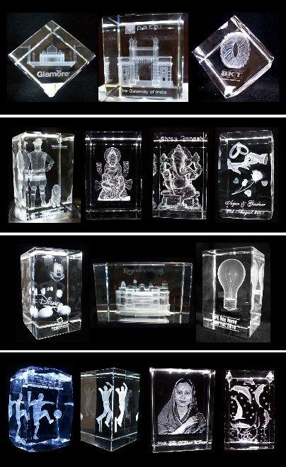 3d crystal engraving