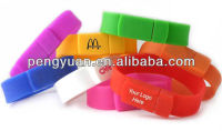 Promotion Gift Silicone Bracelet Usb Flash Drive 1GB /2GB bulk Cheap