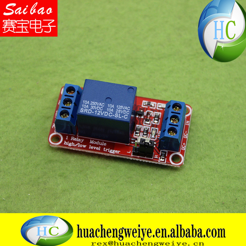 12V1 relay module with optocoupler relay relay board high and low level trigger