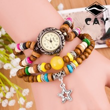 Ladies watch bracelet quartz Lady's watch vintga Buddha beads bracelet wrist watch