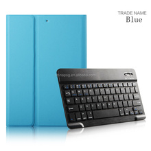 Luxury Reasonable price Ultra slim/Ultra-thin Folio five colors pu leather bluetooth keyboard tablet cover for Apple iPad Air