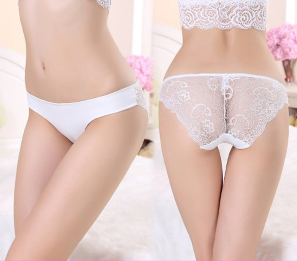 Fashion Women Seamless Underwear Transparent Lace Sexy Lady Panty 9815