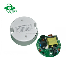 Triac dimmable IP67 Constant current 200ma plastic case round shape led driver for downlight
