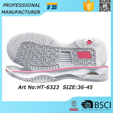 Good Price Anti-Static Shoe Sole Trade Female Male Badminton Rubber Shoe Making Supplies Soles For Sneakers, Eva Foam Soles
