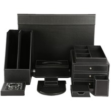 Hotel Leather Supplies Desk Accessories Organizer Desktop Set