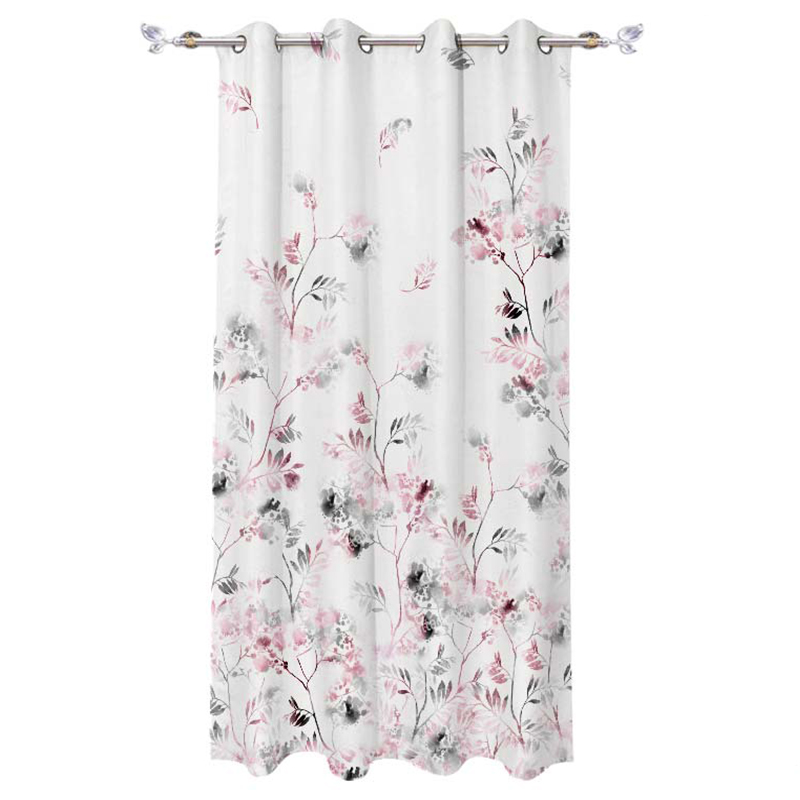floral design shower curtain,European design For The Living Room Window