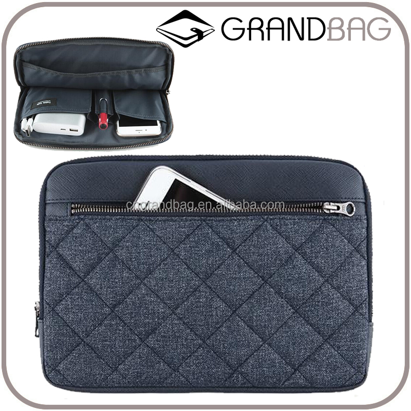 hot sell fashion nylon saffiano leather briefcase for ipad, leather business clutch bag for men and women, portfolio bag
