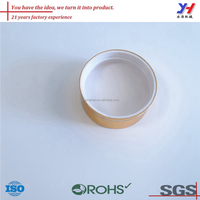 OEM Factory Customized Gold Anodized Aluminum Screw Cap For Bottle And Jar