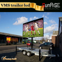 Sunrise newest product mobile led HD outdoor diesel generator Trailer Mobile LED Screen cricket live led display for advertising
