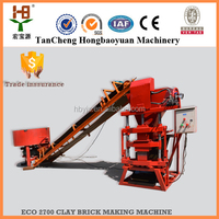 2015 popular Thailand soil interlocking brick machine eco premium 2700 caly block machine production plant
