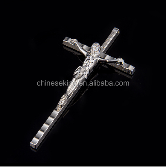 Fashion Jesus cross alloy pendant charms wholesale religious charm pendant for 2017 jewelry accessories
