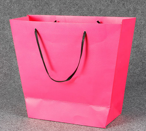 2015 quality factory price fashionable pink shopping print shopping paper gift bags and boxes