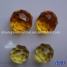 Amber Color faceted cut decorative crystal ball