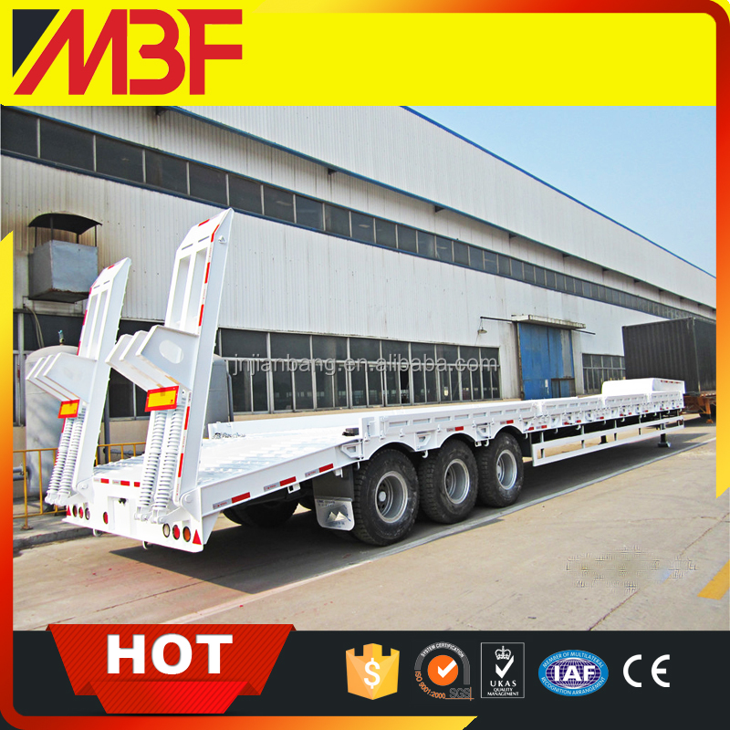 Widely Used Lowbed Trailer 4 Axle