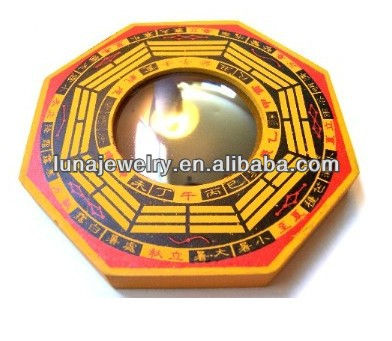 Fengshui Wooden Convex and Concave Ba Gua Mirrors
