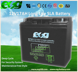 12v17AH Lawn Mover Vacuum Cleaner Backup Power Battery VRLA AGM MF Industrial Battery