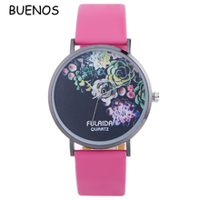 Simple Design Printed Custom Wrist Watch for Beautiful Women
