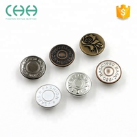 Classic retro plating metal jeans combined button