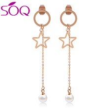 circle simple drop gold dangle earrings gold round star long tassel earring beautiful earring designs for women