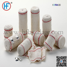 Elastic Crepe Bandage with Red line Blue line ISO CE FDA approval