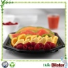 Biodegradable disposable plastic food tray blister salad fruit container