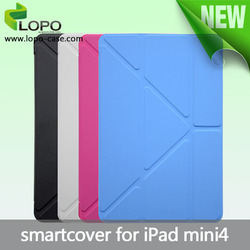 2015 new design wholesale for ipad smart cover, smart sublimation case for ipad mini 4, cover for ipad