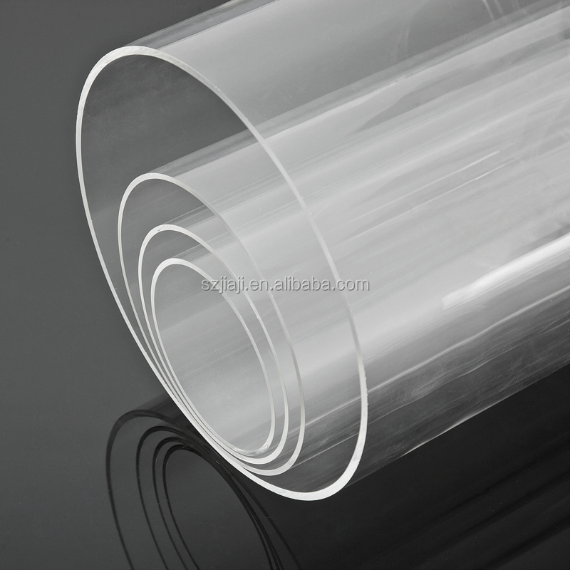 large diameter transparent acrylic tube