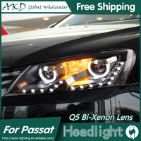 AKD Car Styling for VW Passat B7 LED Headlights Volks Wagen Passat LED Head Lamp Projector Bi Xenon Hid H7