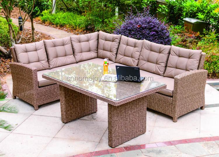 Outdoor furniture modern rattan leather sofa outdoor for Cheap modern outdoor furniture