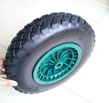 16 inch 4.80/4.00-8 wheelbarrow PU foam puncture proof solid wheel