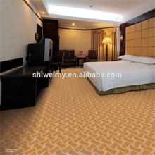Brown high cut low loop wave pattern polypropylene carpet for Bedroom