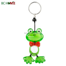 Frog crystal keychain, resin key ring,polyresin key chain