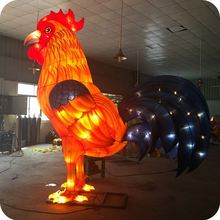 4.6m led big rooster lantern 2017 new year party decorations