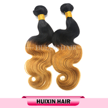 Wholesale 12 to 26 inches colored two tone hair weave, ombre hair weaves for african americans