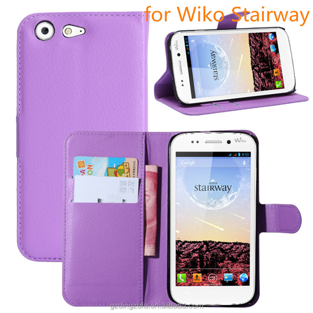 High Quality Full Protective Back Case PU Leather Wallet Mobile Phone Case Cover For Wiko Stairway