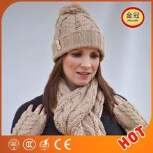 Womens Knitted Beret Skull Hat Pattern