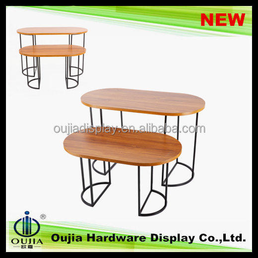 simple design nests of tables in MDF panel, new designs shopping mall furniture sets