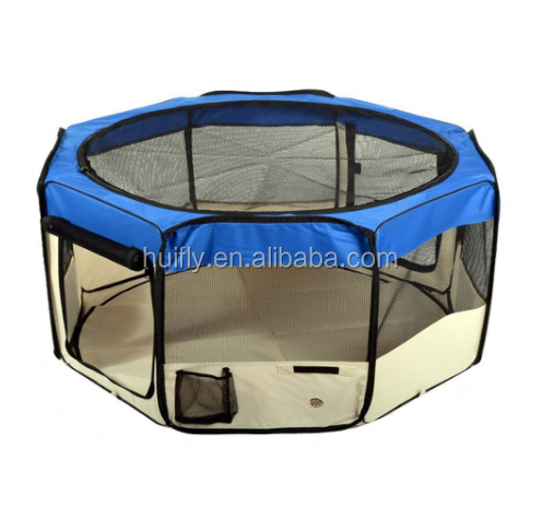 "45"" & 61"" Foldable Portable Dog/Cat/Rabbit/Puppy Pet Playpen Exercise Pen Kennel 600D Oxford Cloth with Carry Bag"