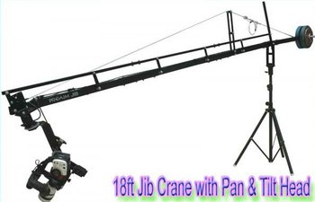 PROAIM 18ft Jib crane with tripod stand & Sr. Pan tilt head for Documentary Independent Wedding Video Makings