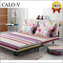 Modern design colorful Printing portable price of folding sofa bed wholesale