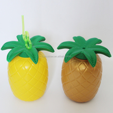 plastic pineapple pineapple mugs pineapple drinking cup with straw